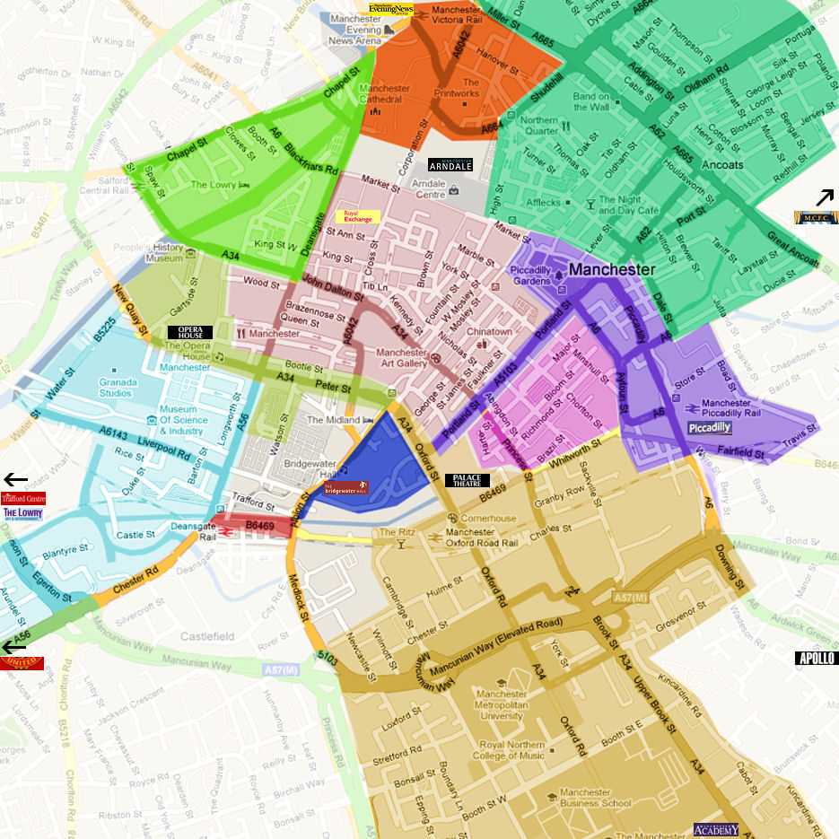 Pin Manchester Map On Pinterest