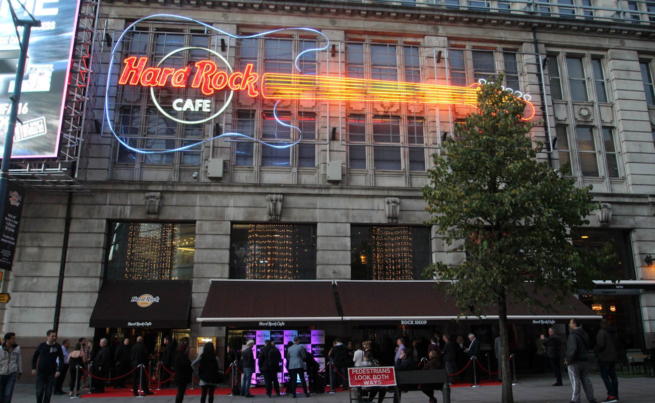Hard Rock Cafe Manchester Menu